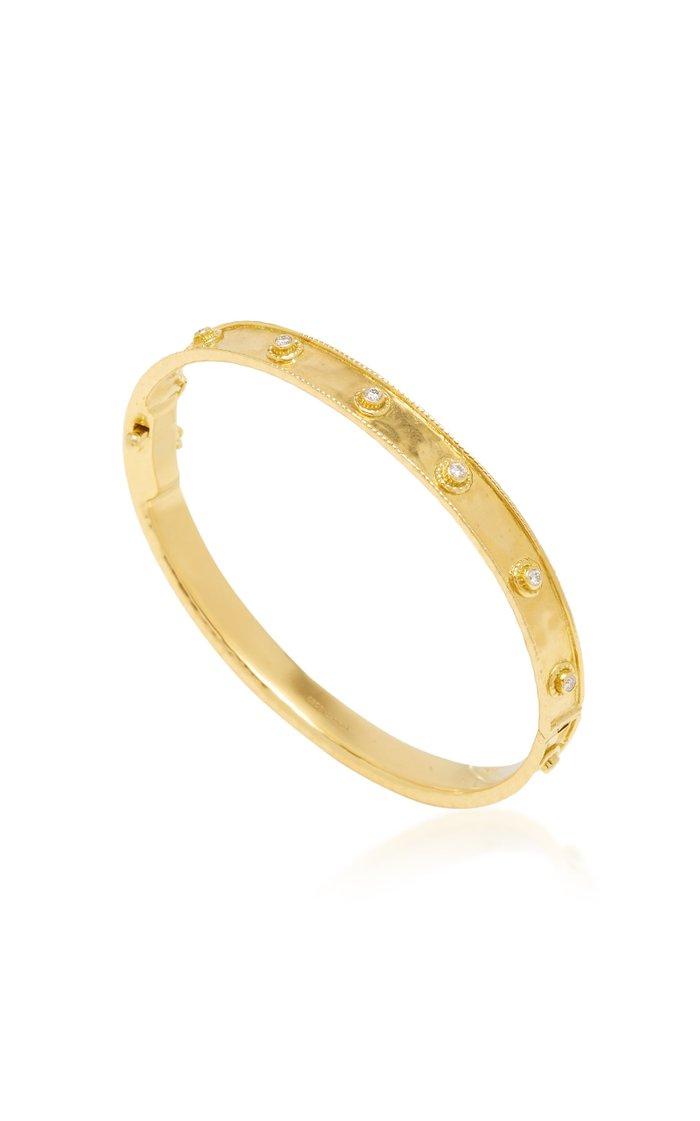 Revati 18K Gold and Diamond Bangle