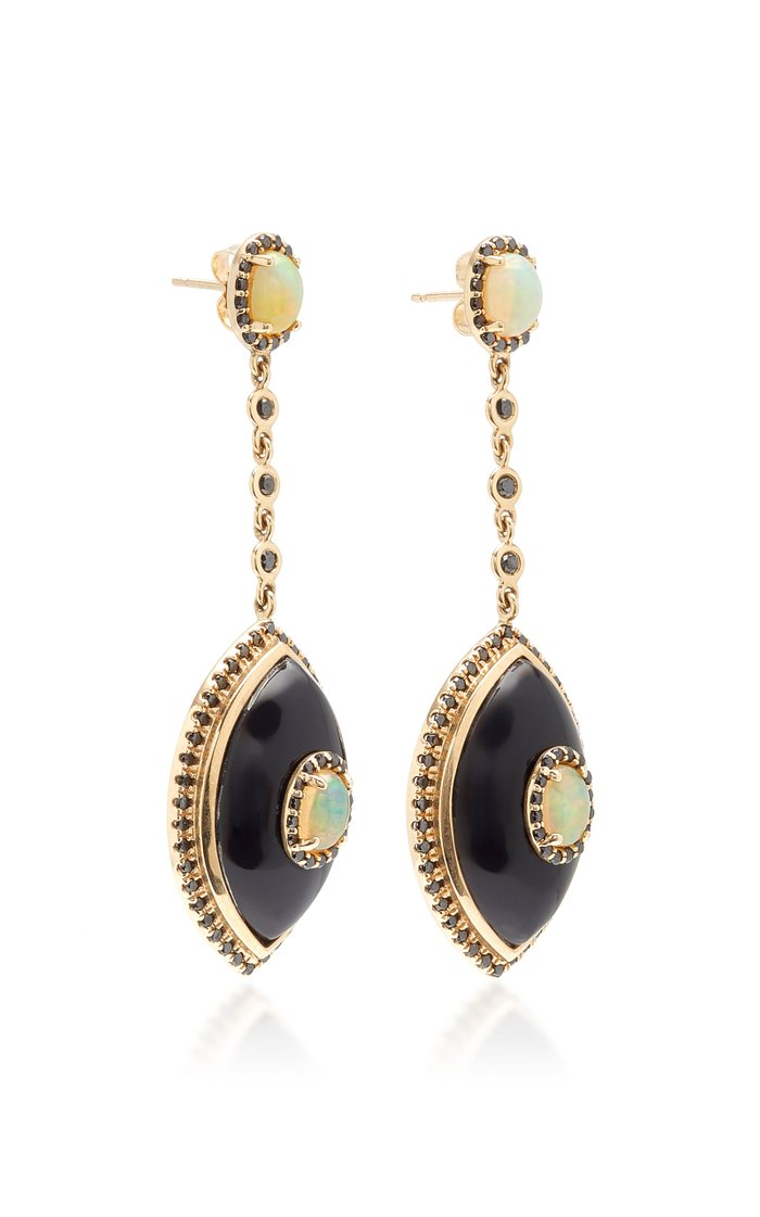 Eyecon Black Onyx Drop Earrings