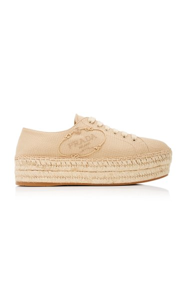 Logo Canvas Espadrille Sneakers