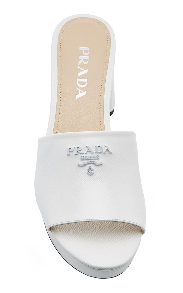 Chunky Logo Leather Sandals