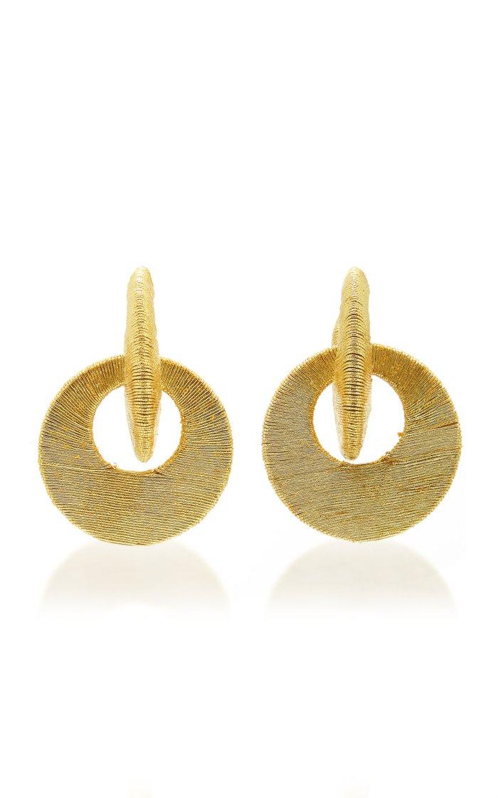 Carmen Cord Hoop Earrings