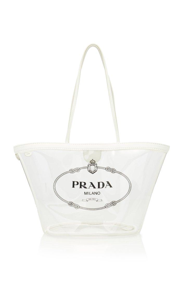 Transparent PVC Logo Tote Bag