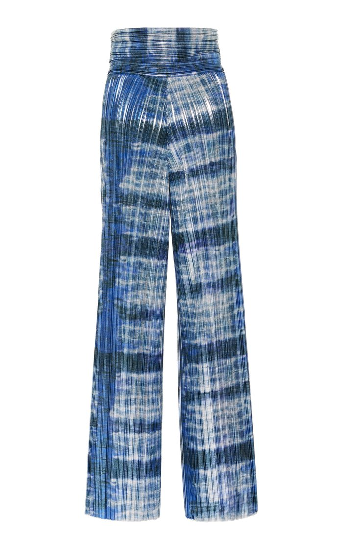 Patterned Wide-Leg Pants