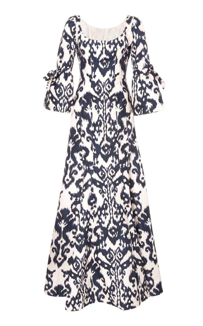 Margarita Silk Blend Maxi Dress