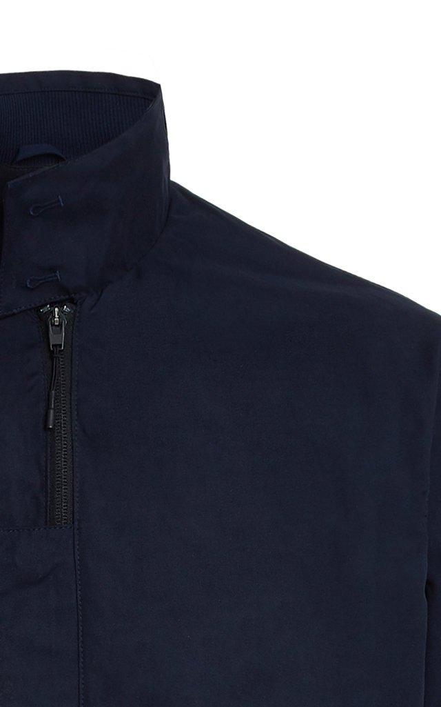Classic Sueded Nylon Harrington Jacket