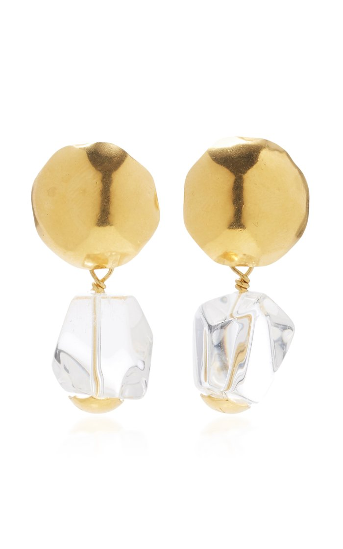 Gold-Plated And Crystal Earrings