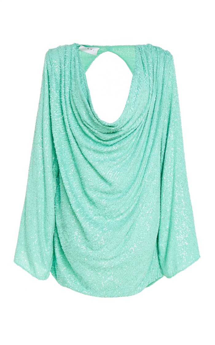 Carol Draped Printed Stretch-Jersey Mini Dress