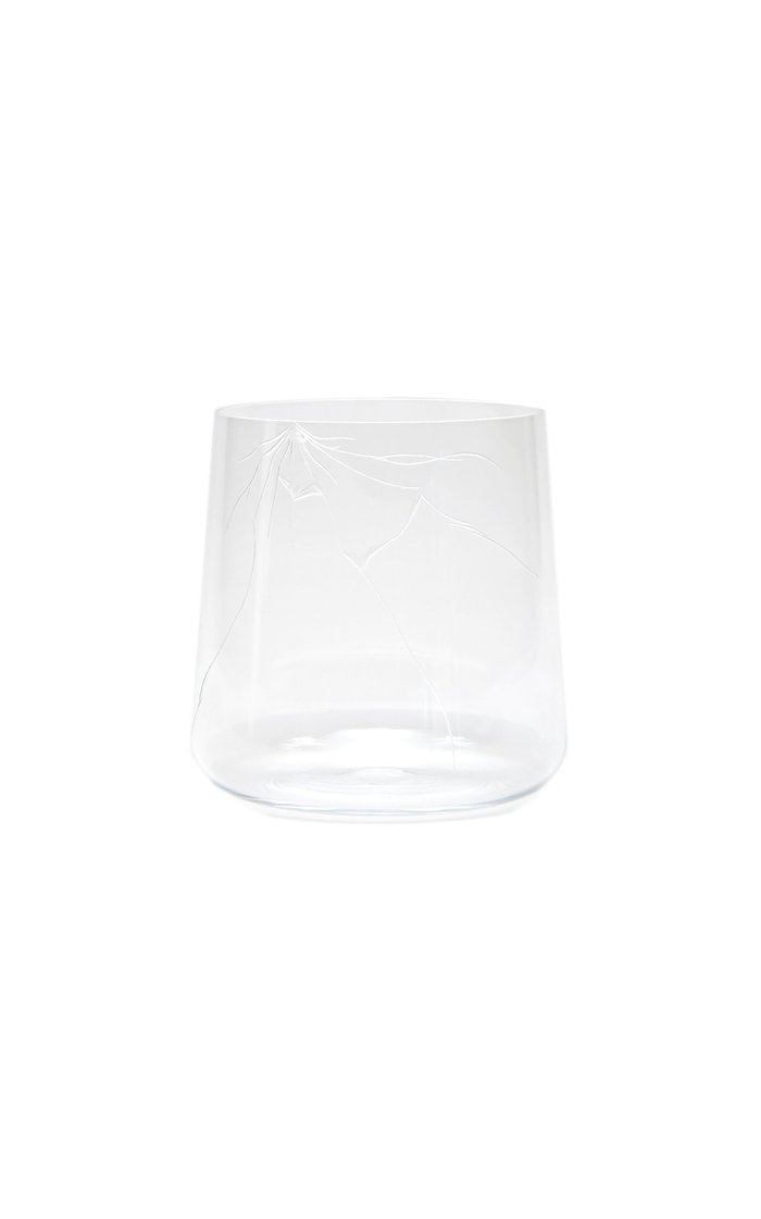 Exclusive Crack Engraved Glass Tumbler