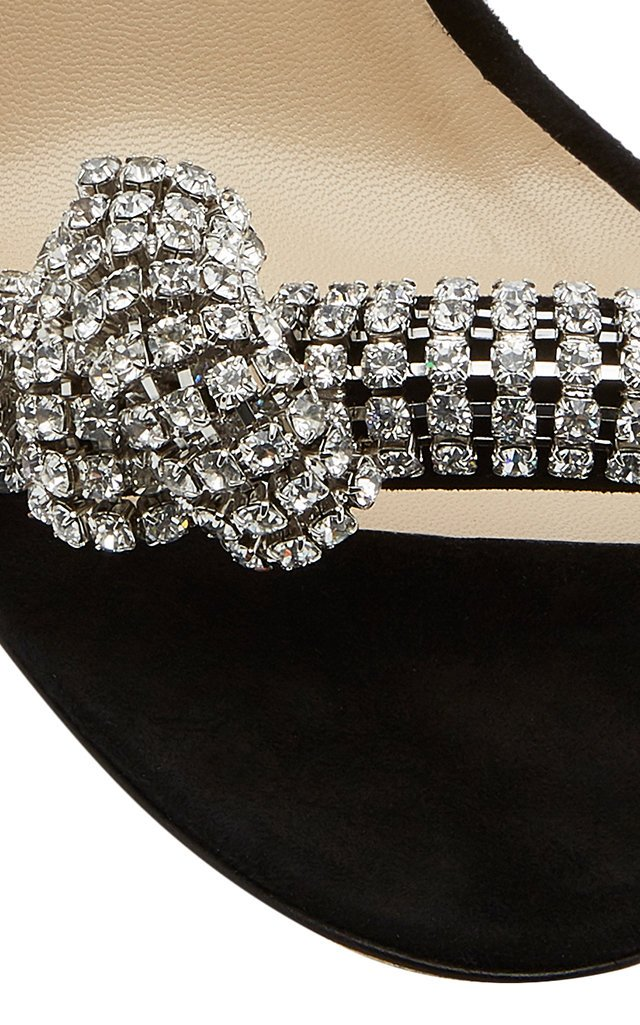 Thyra Embellished Suede Sandals