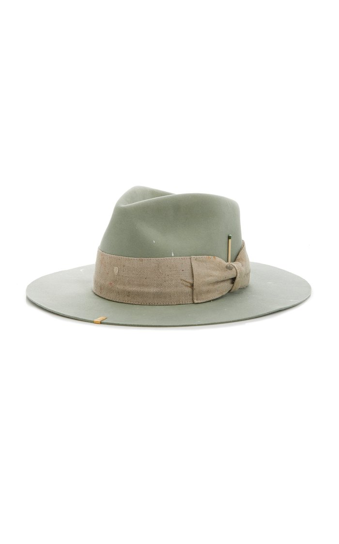 Santa Lucia Wide-Brim Felt Hat