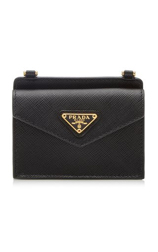 Logo-Detailed Saffiano Leather Cardholder