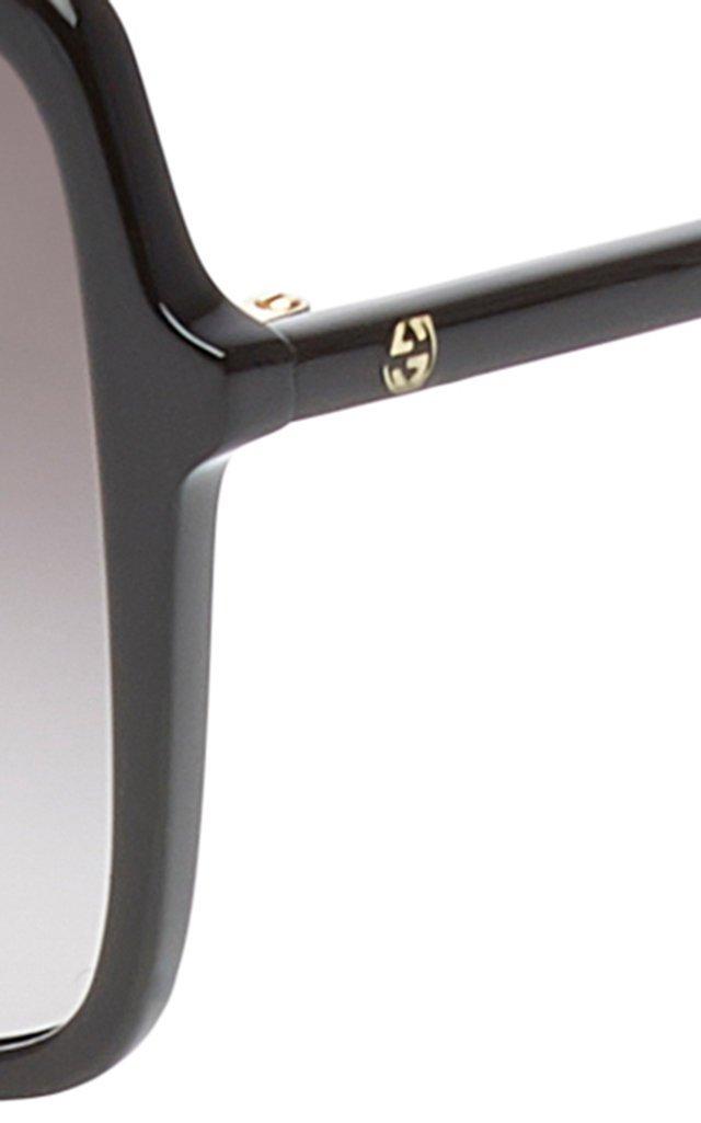 Ultralight Acetate Square-Frame Sunglasses