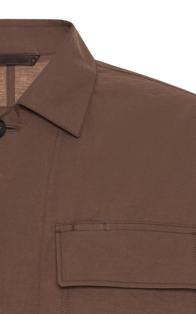 Cotton-Blend Twill Jacket