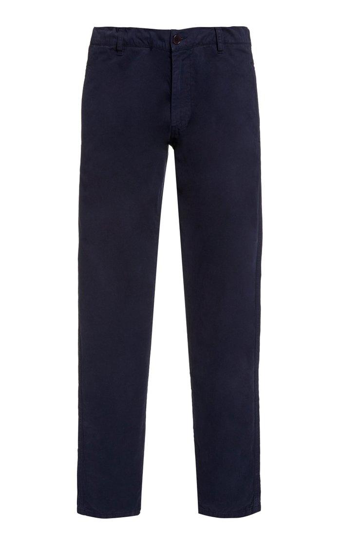 Rider Cotton Straight-Leg Pants