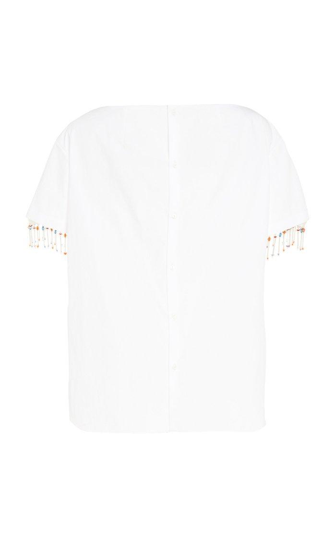 Heart Neckline Cotton Shirt