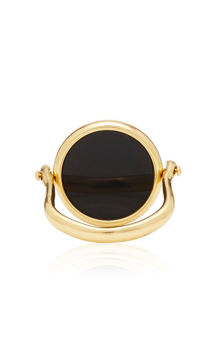 18K Gold And Agate Ring