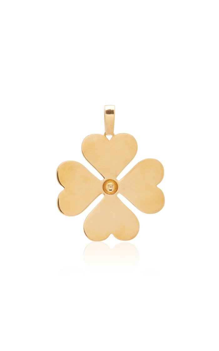 Heart Clover 18K Gold Necklace