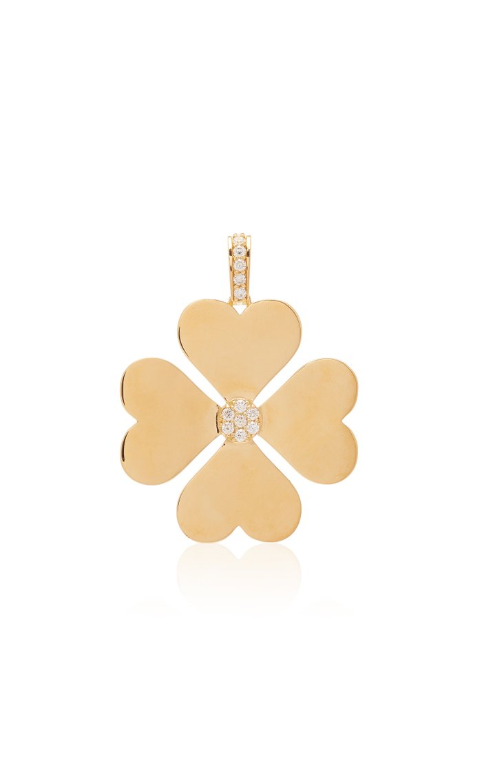 Heart Clover 18K Gold and Diamond Necklace