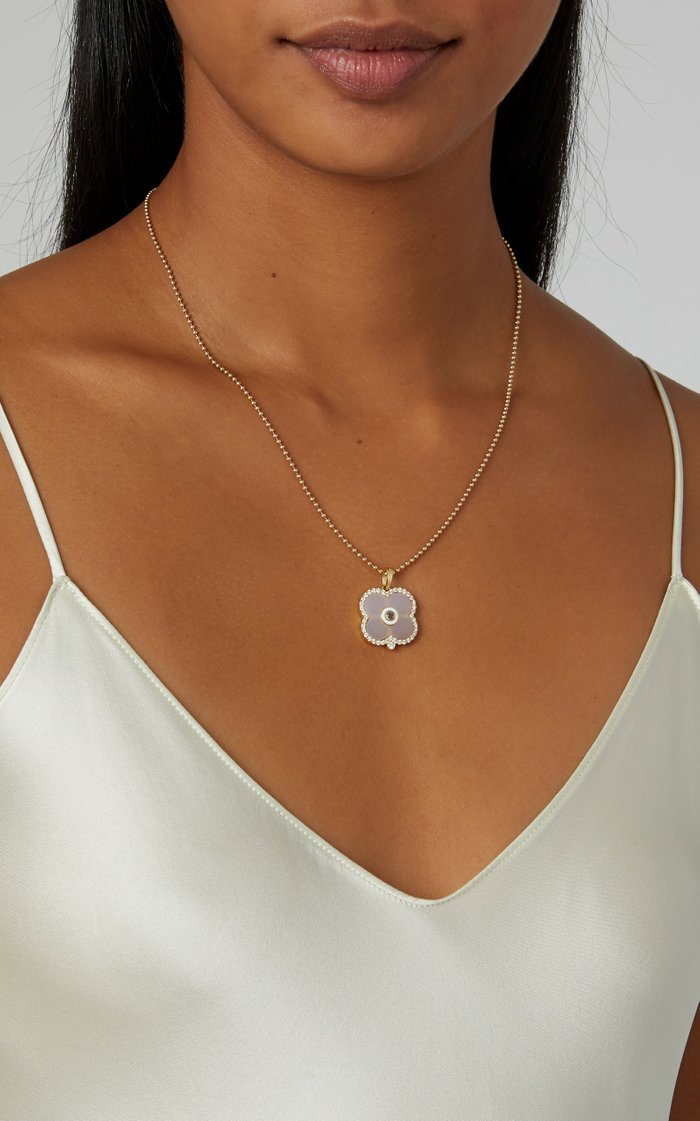 Evil Eye 18K Gold and Quartz Necklace