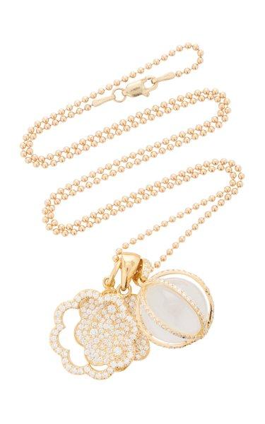 Trio 18K Gold and Diamond Necklace