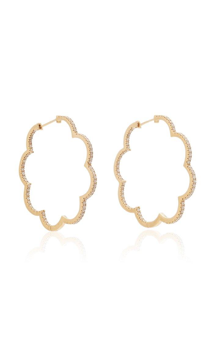 Amelie 18K Gold And Diamond Hoop Earrings