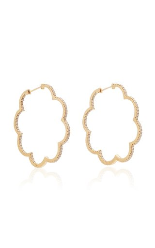 Amelie 18K Gold And Diamond Hoop Earrings