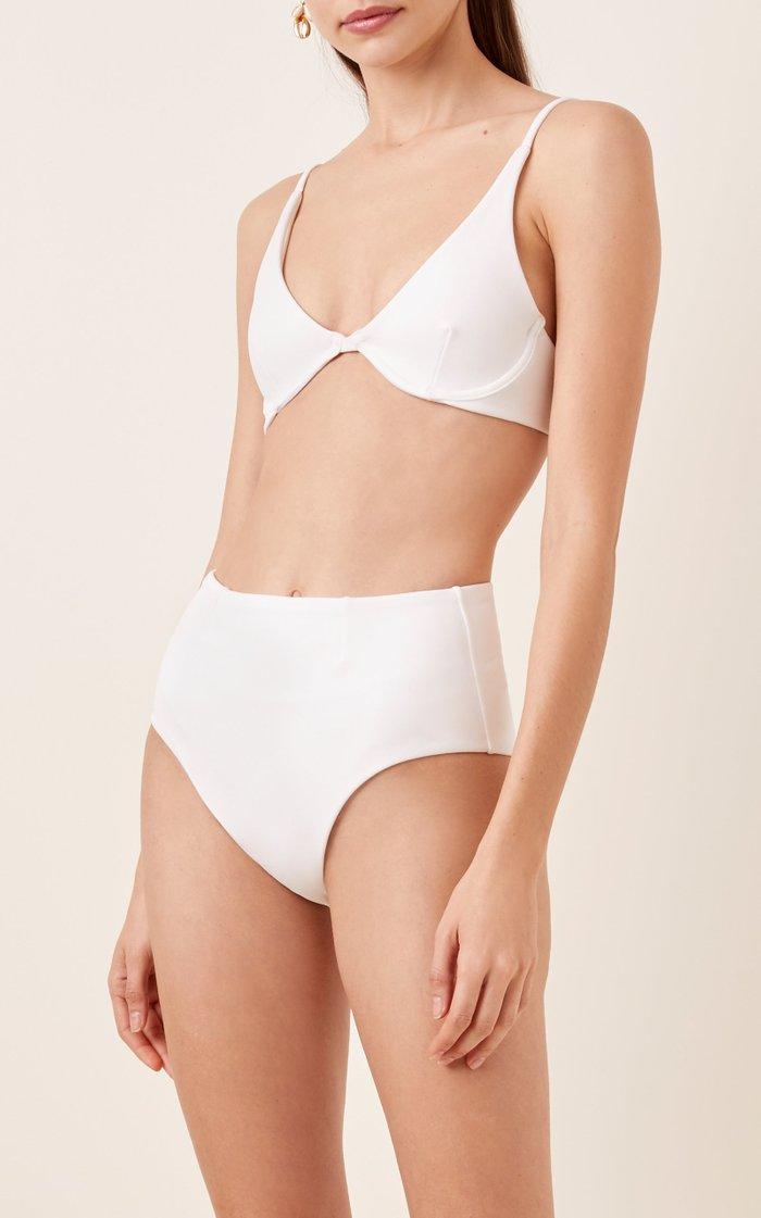 Stretch-Crepe Underwired Bikini