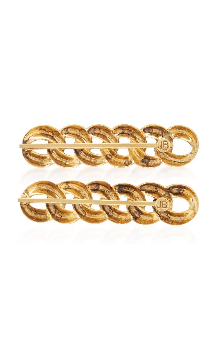 Didi Set-Of-Two Gold-Tone Hair Slides