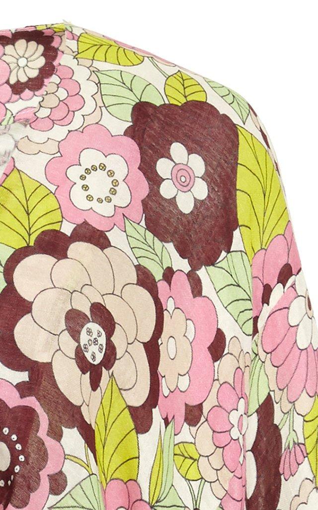 Shelly Floral-Print Cotton-Voile Mini Dress