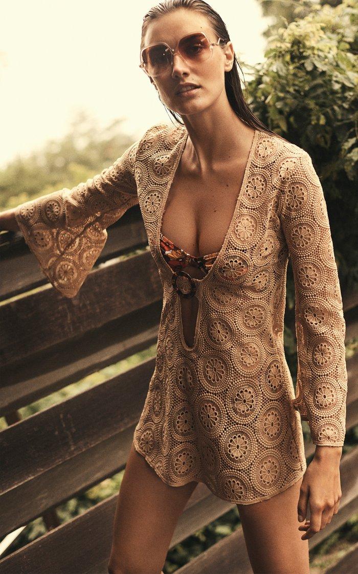 Jane Cotton Lace Mini Dress