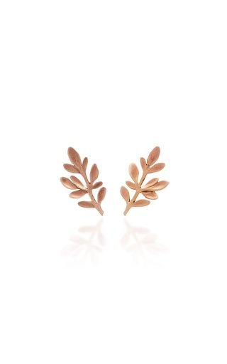Palm Rose Gold Stud Earrings