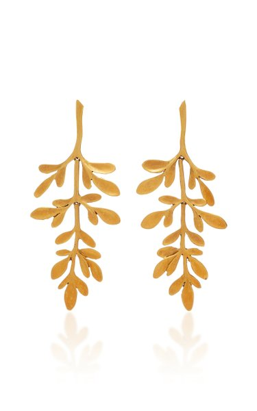 Vine Yellow-Gold Earrings