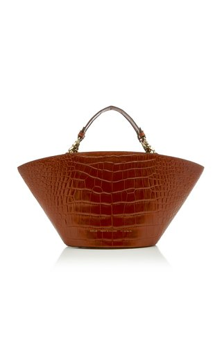 Chylak Croc-effect Leather Tote In Brown
