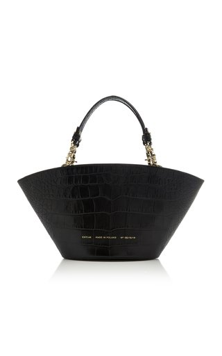 Chylak Small Croc-effect Leather Tote In Black