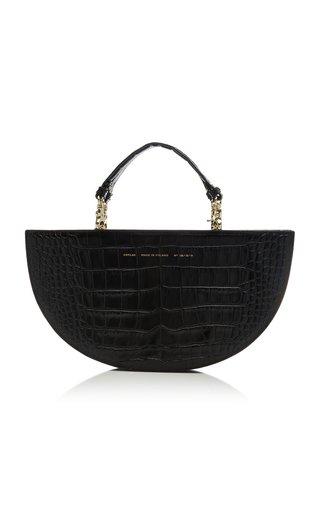 Chylak Croc-effect Leather Shoulder Bag In Black