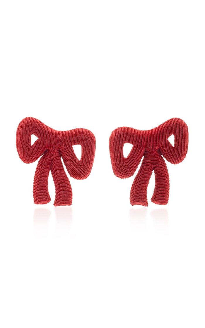 Tie Me Up Silk Cord Clip Earrings