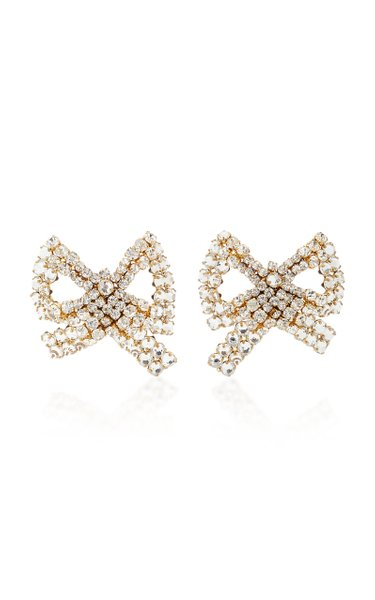 Tie Me Up Crystal-Embellished Clip Earrings