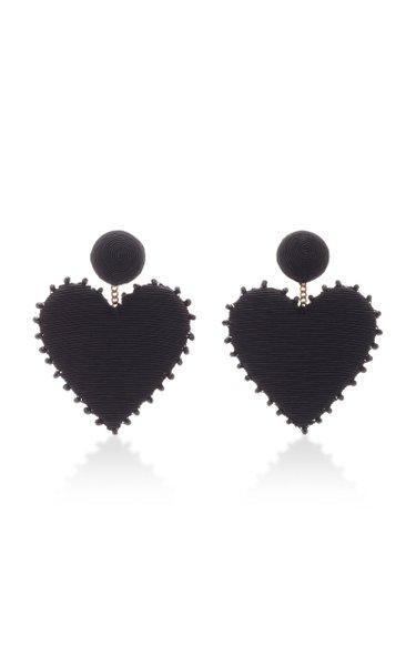 Cora Crystal-Embellished Silk Cord Earrings