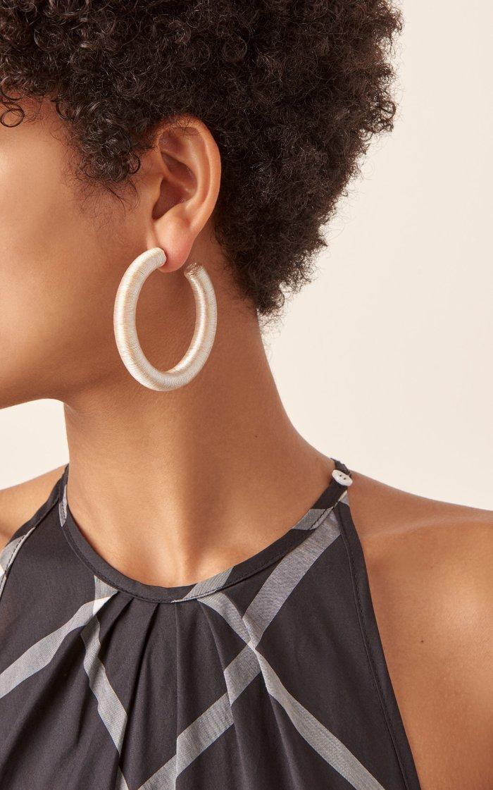 Lurex Cord Hoop Earrings
