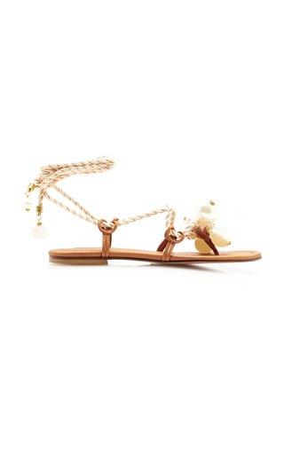 Ariel Embellished Leather Sandals