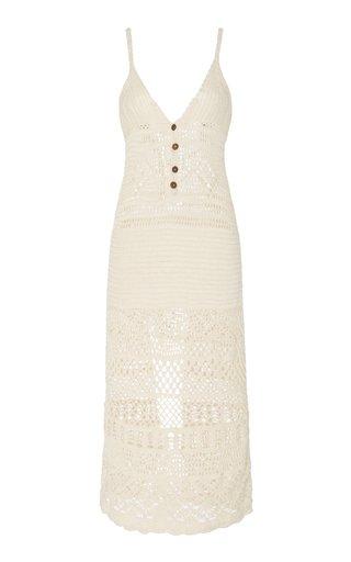 Esme Crocheted Cotton Midi Dress