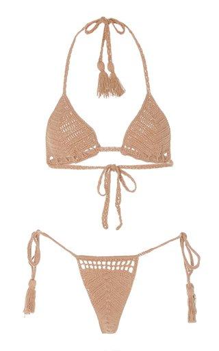 Clio Crocheted Cotton Bikini Set