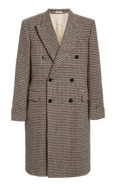 Gabin Houndstooth Wool Coat