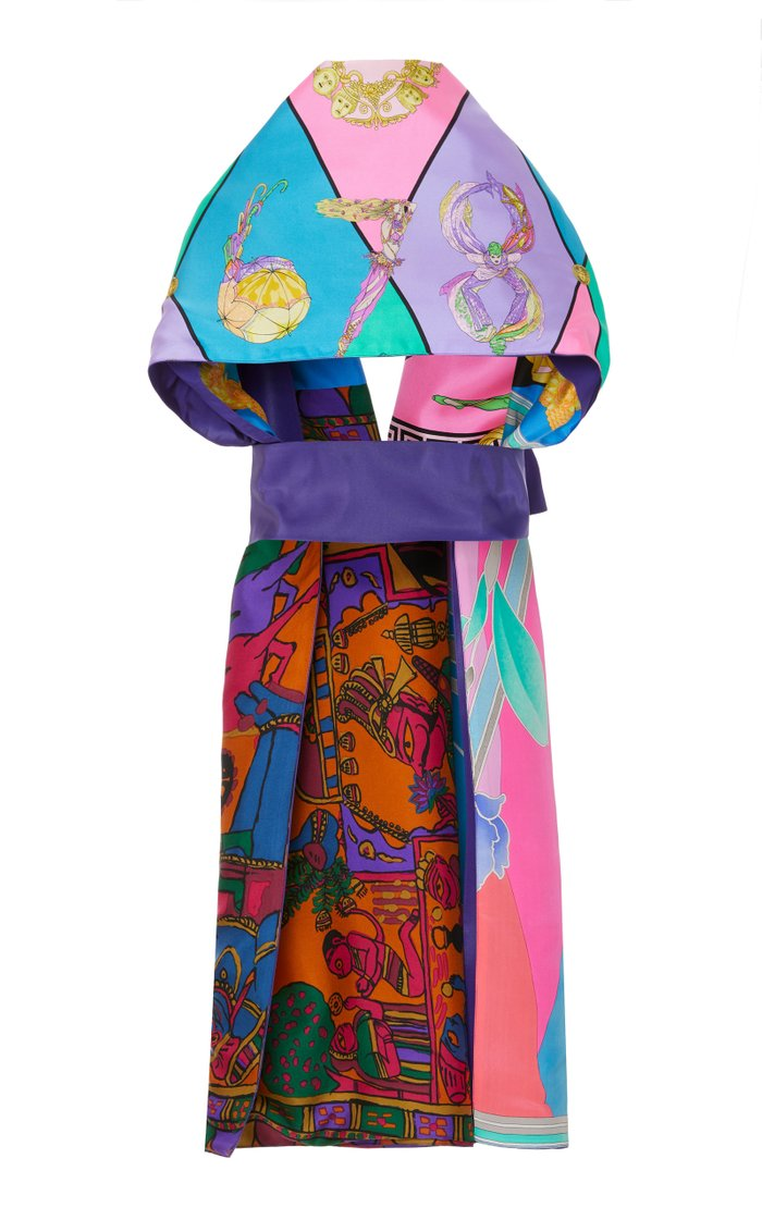 Exclusive One Of A Kind Printed Patchwork Stole