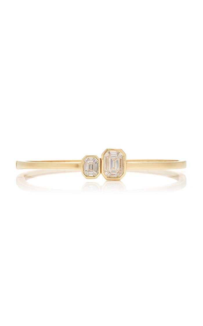 Duplex Illusion 18K Diamond Bangle