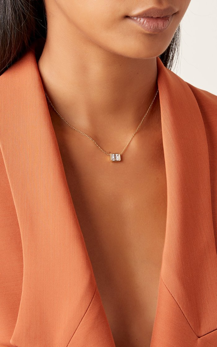 Illusion 18K Gold Diamond Necklace