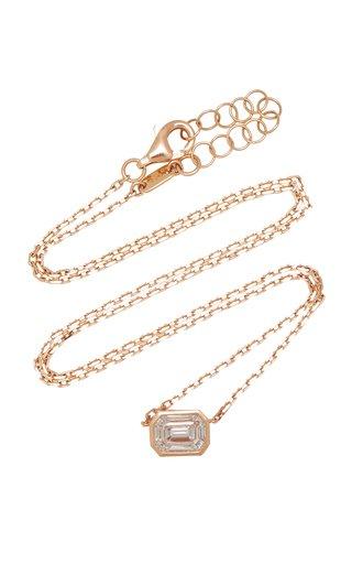 Illusion 18K Rose Gold Diamond Necklace