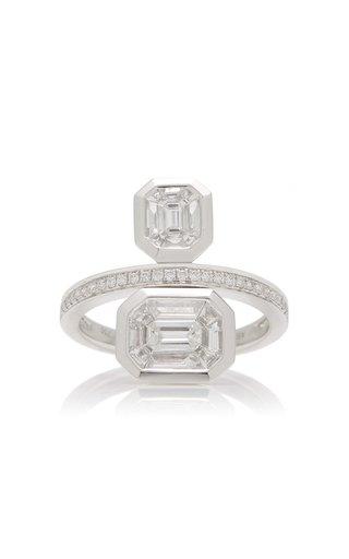 Duplex Illusion 18K Gold Diamond Ring