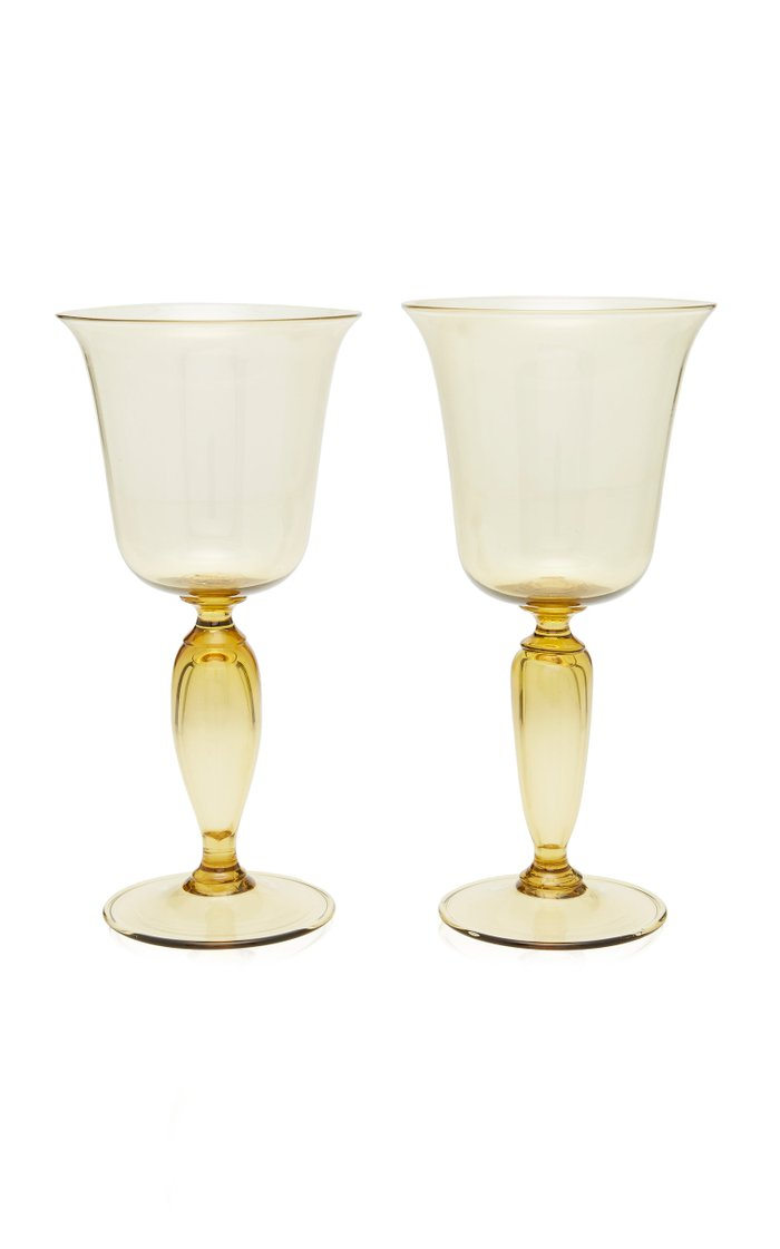 Set-Of-Two Red Wine Glasses