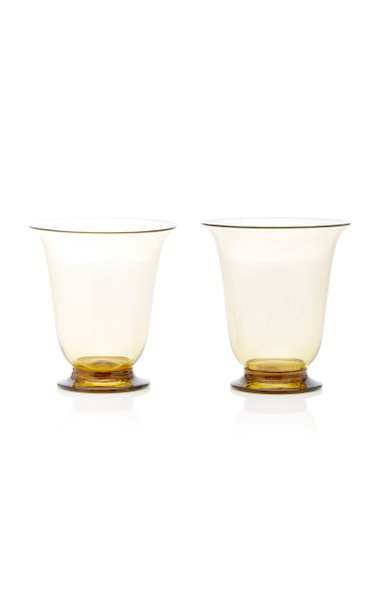Set-Of-Two Footed Tumblers